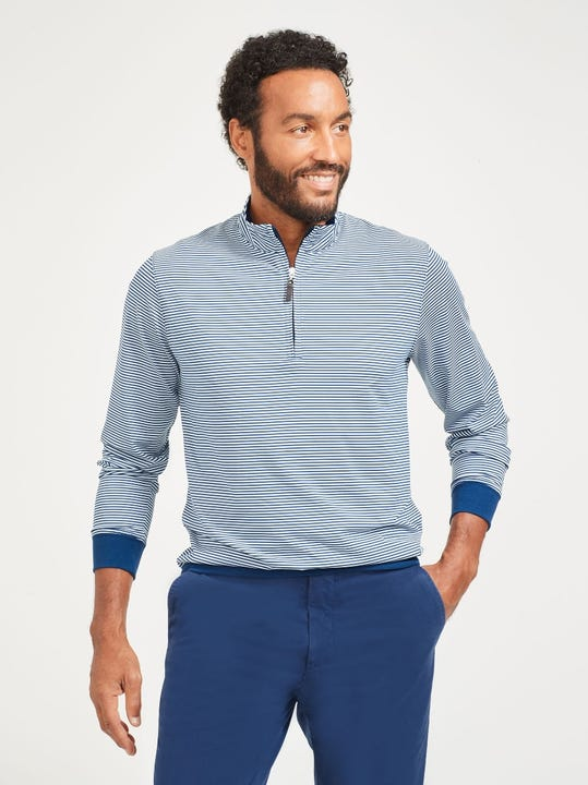Clermont Performance 1/4 Zip in Stripe