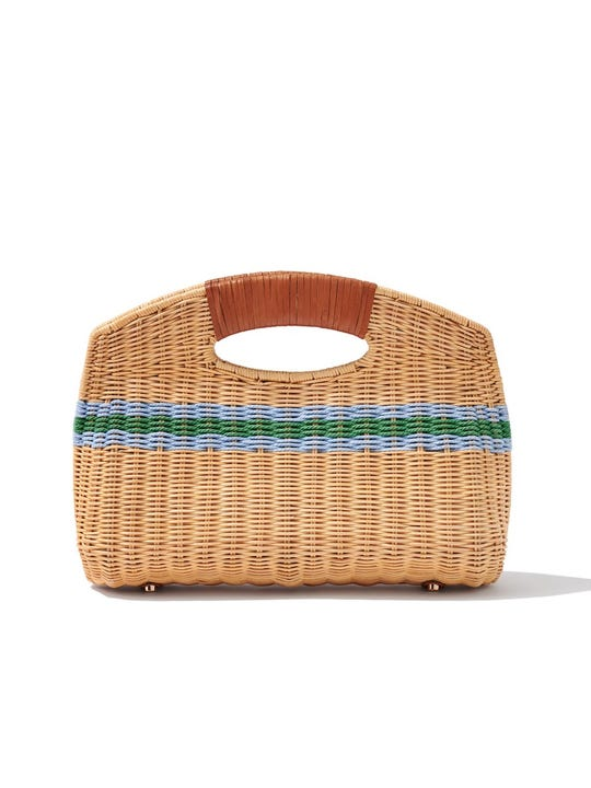 Rhodes Wicker Clutch in Stripe