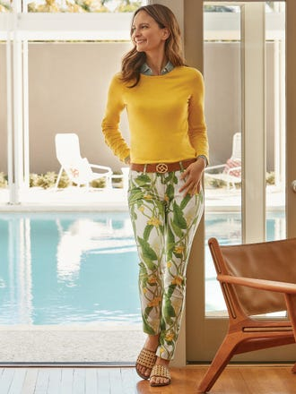 Lexi Jeans in Lily Frond