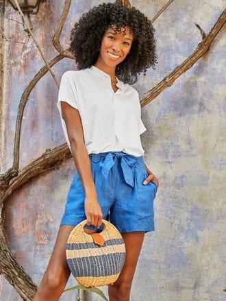 Abbie Linen Shorts