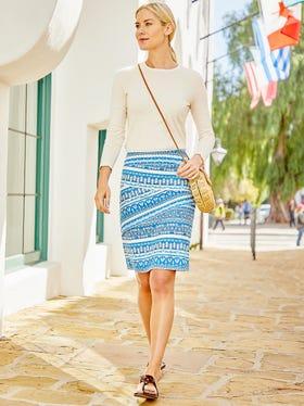 Nicola Skirt in Barrier Cay