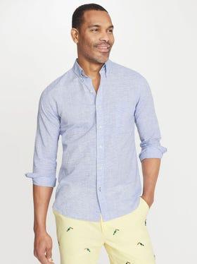 Gramercy Classic Fit Linen Shirt in Horizontal Stripe