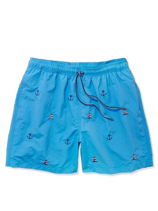 Gibson Swim Trunks in Lighthouse and Anchor