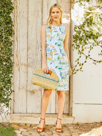 Sophia Sleeveless Dress in Jardinia