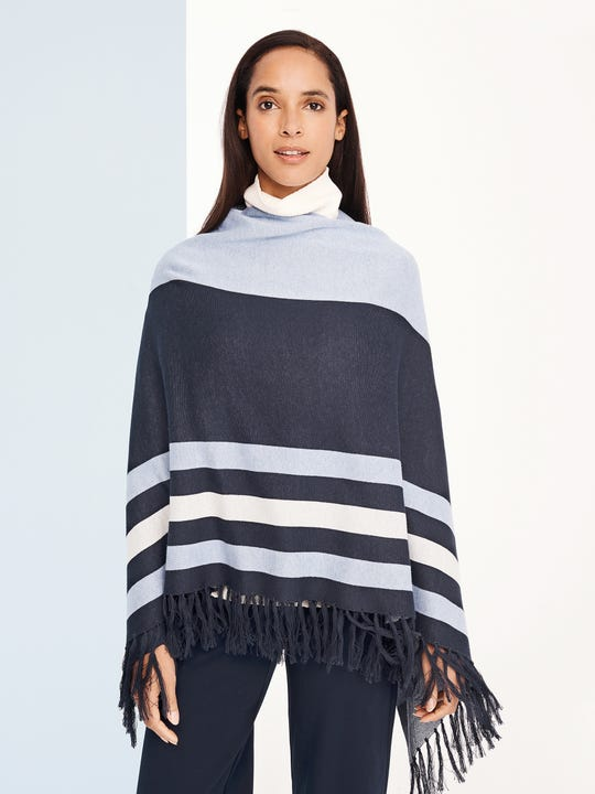 Harrow Poncho in Stripe