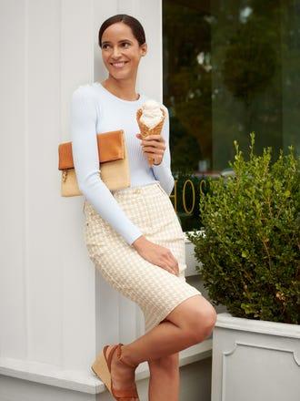 Josette Skirt in Mini Paris Houndstooth