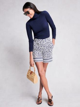 Trixie Shorts in Geo Cheetah Jacquard