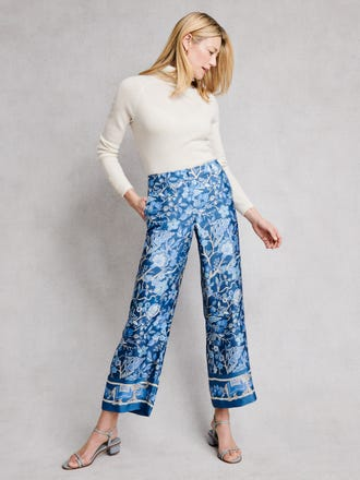 Marlee Pants in Sucre Blossom Border