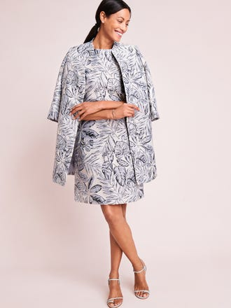 Francine Dress in Indigo Leaflet