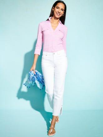 Brynn Linen Shirt in Seawall