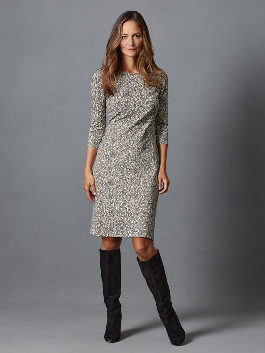 Sophia Dress in Python Texture