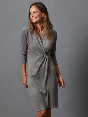 Lillian Faux Suede Dress