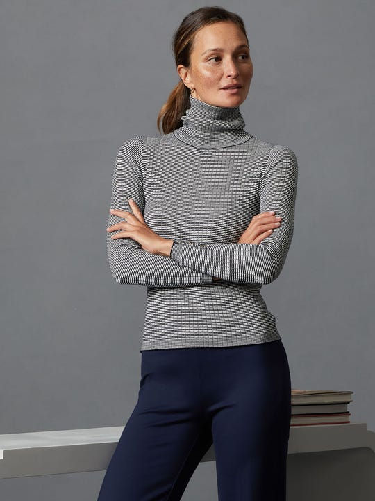 Arlette Turtleneck in Stripe