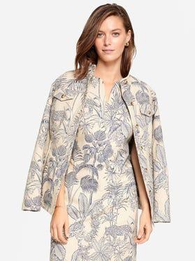 Jessie Jacket in Palm Jacquard