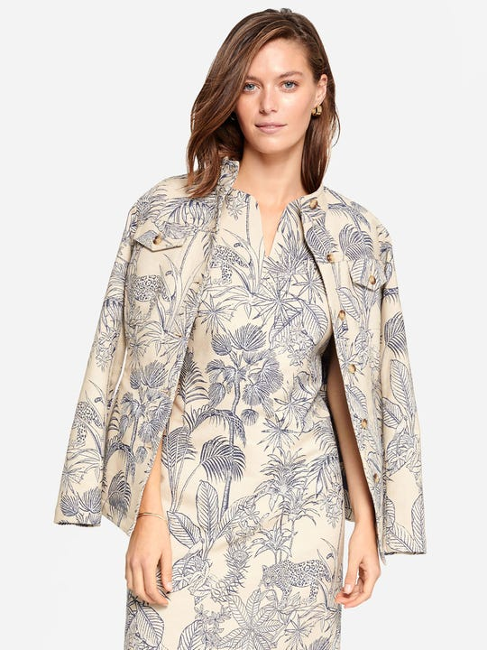 Jessie Jacket in Palm Jacquard