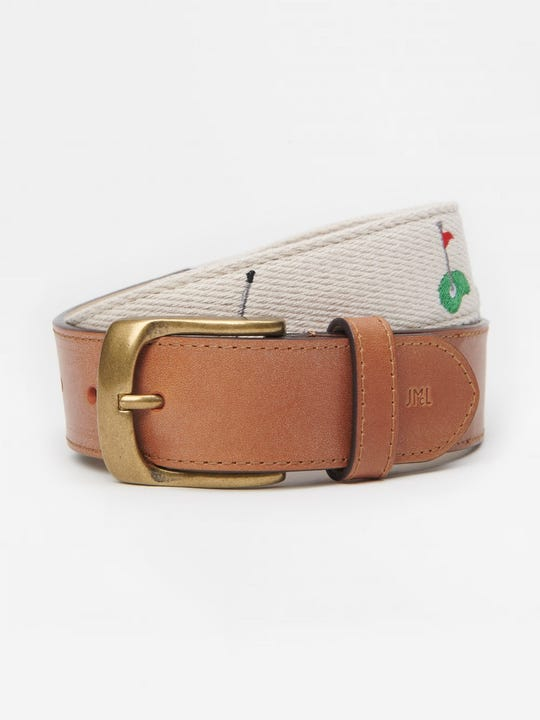 Ashton Embroidered Belt in Golf