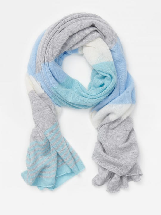 Aubree Cashmere Scarf in Colorblock