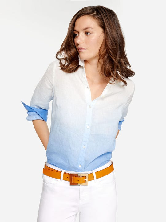 Britt Linen Shirt in Dip Dyed