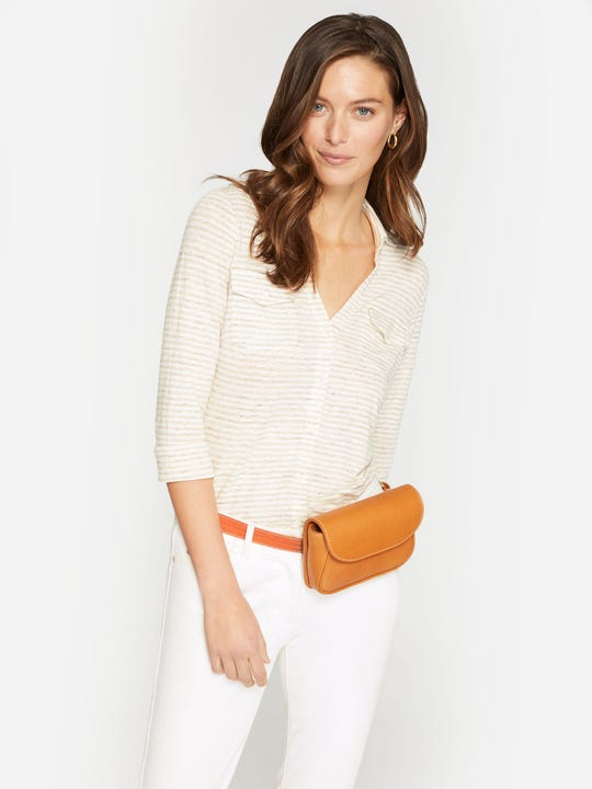 Brynn Linen Shirt in Stripe
