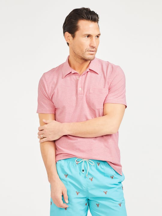 Callahan Polo in Fineline Stripe