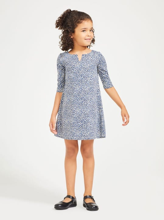 Girls' Carly Dress in Micro Animal
