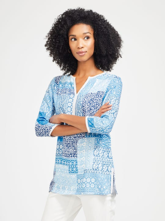 Cecile Blouse in Patchwork