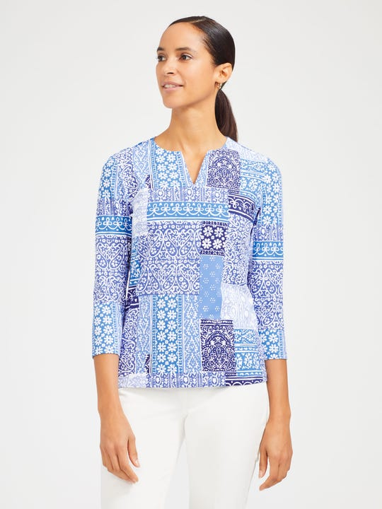 Carly Top in Patchwork