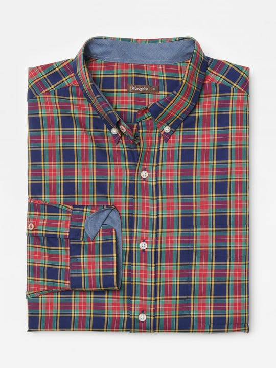 Carnegie Classic Fit shirt in Tartan