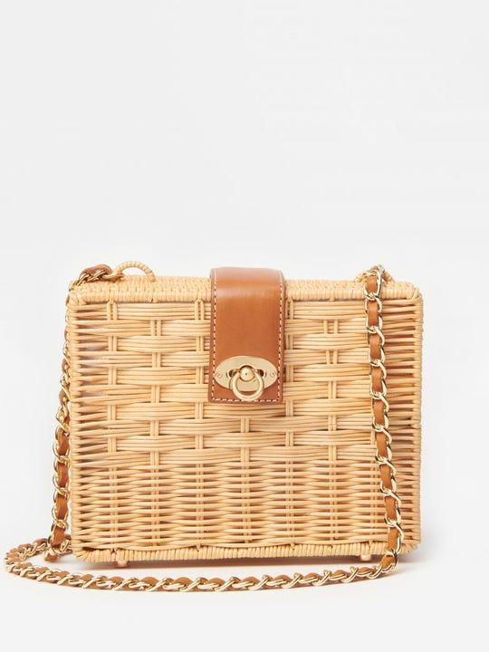 Christina Wicker Crossbody Bag