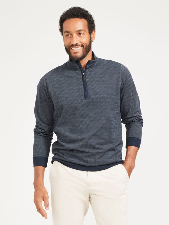 Clermont 1/4 Zip in Knit Jacquard