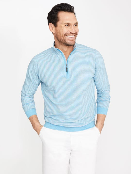 Clermont 1/4 Zip in Stripe
