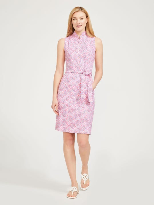 Doris Dress in Lattice Geo