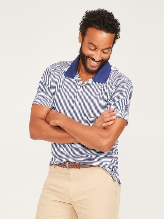 Fairhope Performance Polo in Stripe