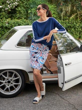 Halle Reversible Skirt in Folklore
