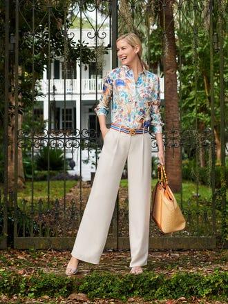 Lois Silk Shirt in Sucre Blossom