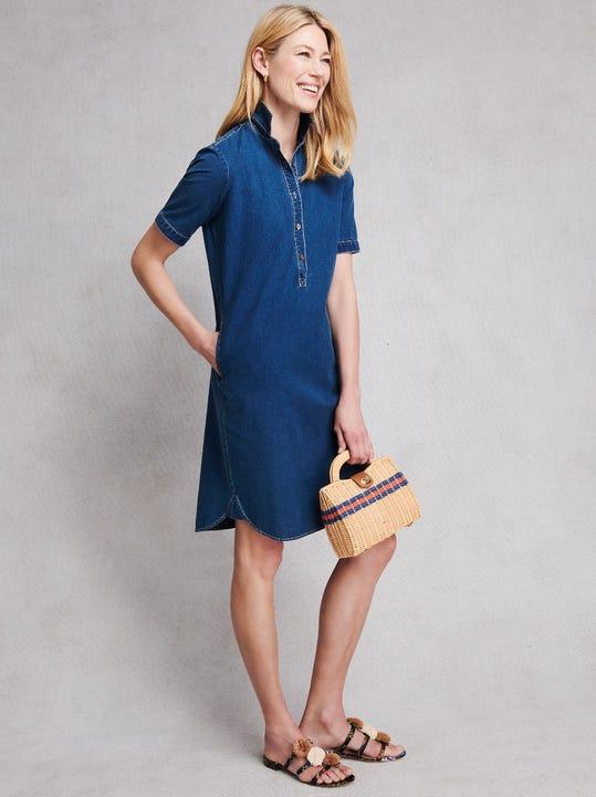 Arissa Dress in Denim