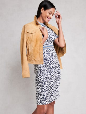 Kyrie Dress in Geo Cheetah Jacquard