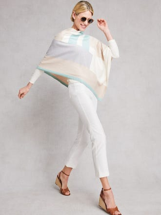 Worth Poncho in Colorblock