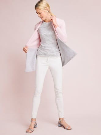Sherrin Cashmere Cardigan in Color Block