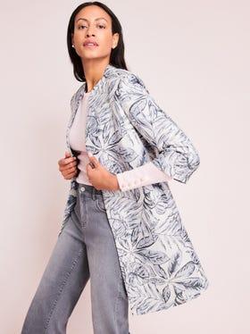 Brienne Jacket in Indigo Leaflet