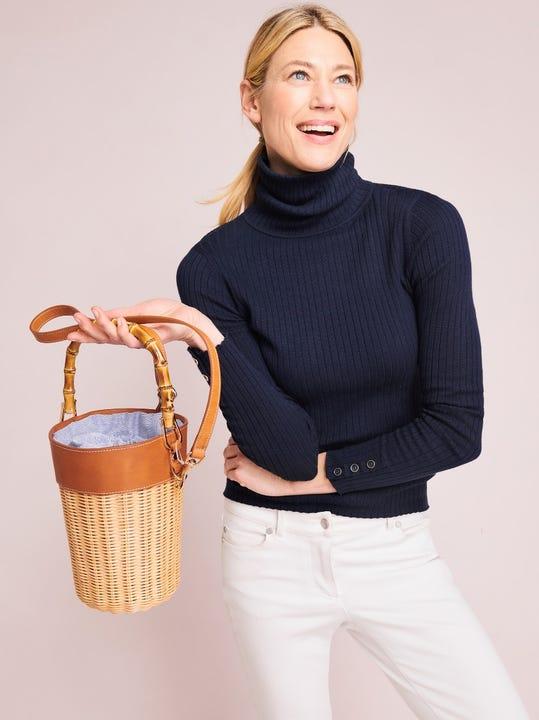 Erin Wicker Bucket Bag