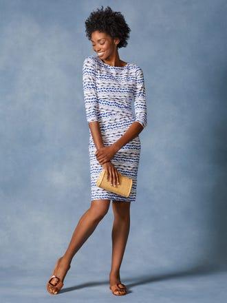 Nicola Dress in Wayward Stripe