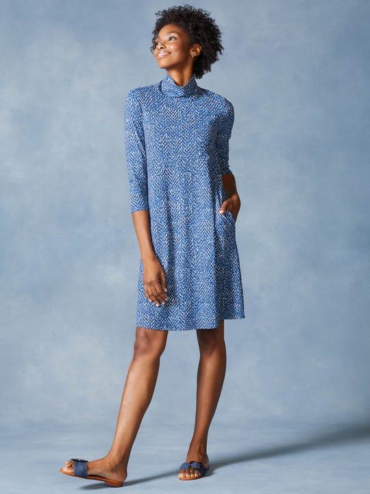 Debbie Dress in Perkins Tweed