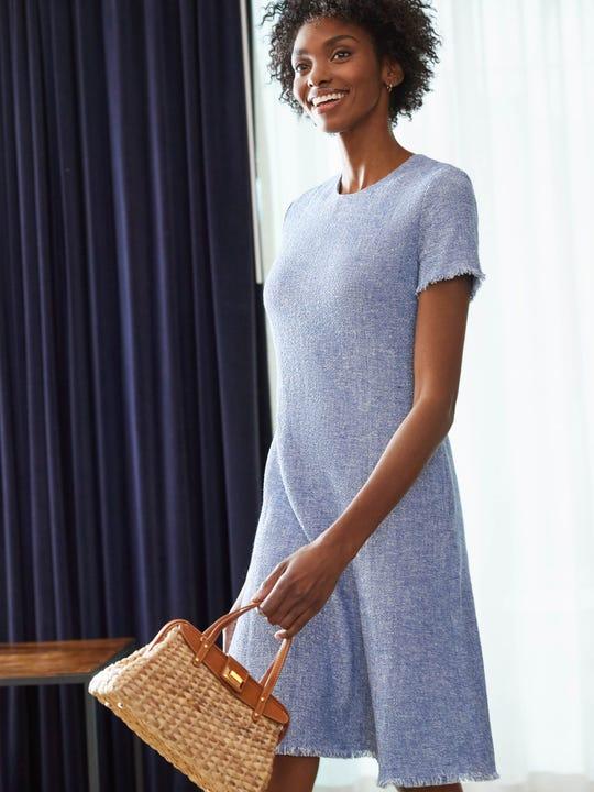 Bree Dress in Tweed