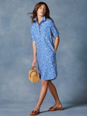 Arissa Short Sleeve Dress in Paintstroke