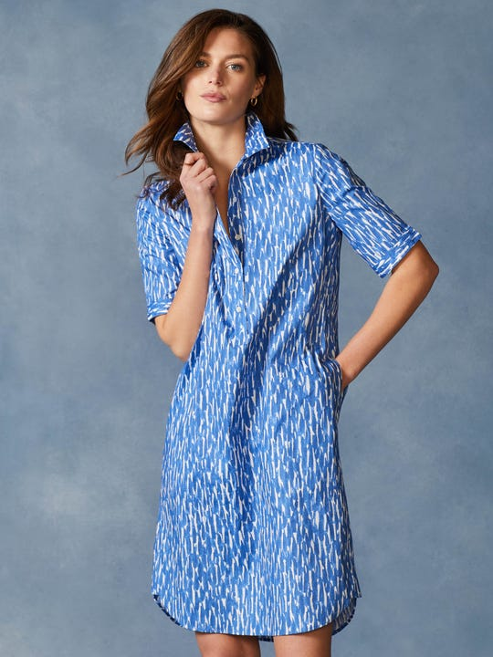 Arissa 3/4 Sleeve Dress in Paintstroke