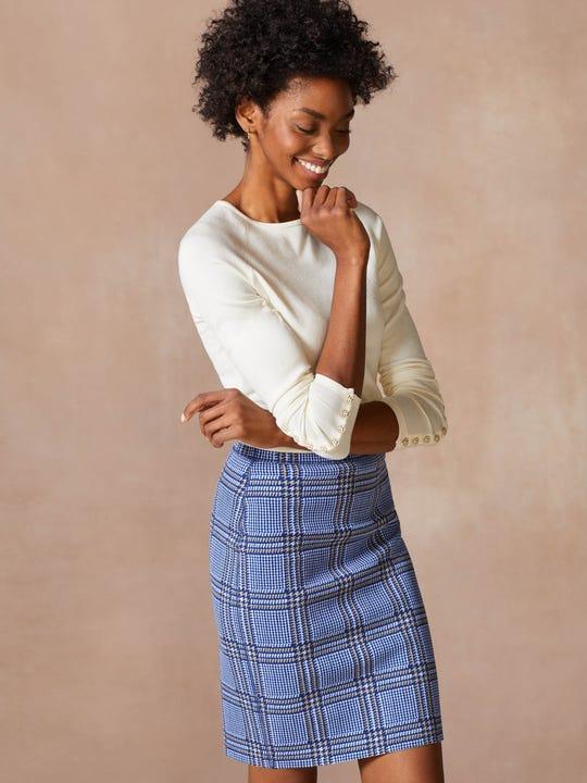 Halle Reversible Skirt in Hilltop Nile