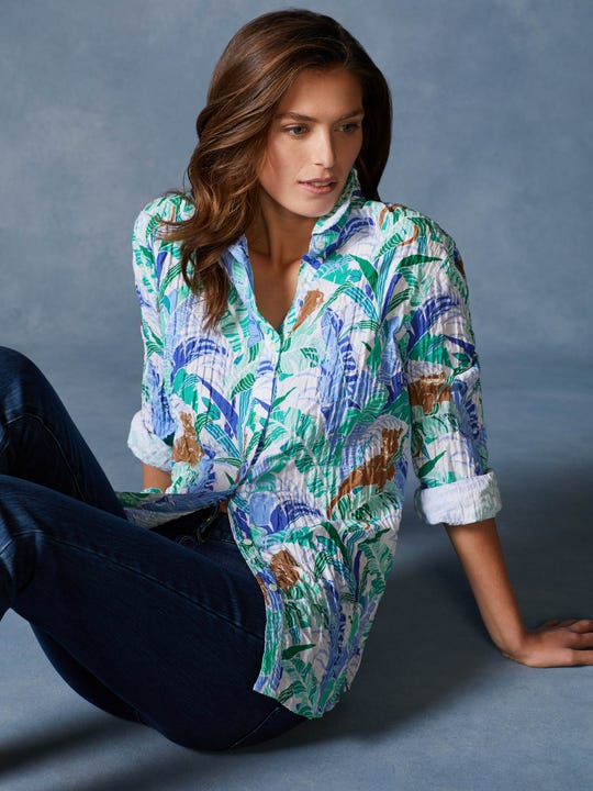 Lois Shirt in Cougar Palm