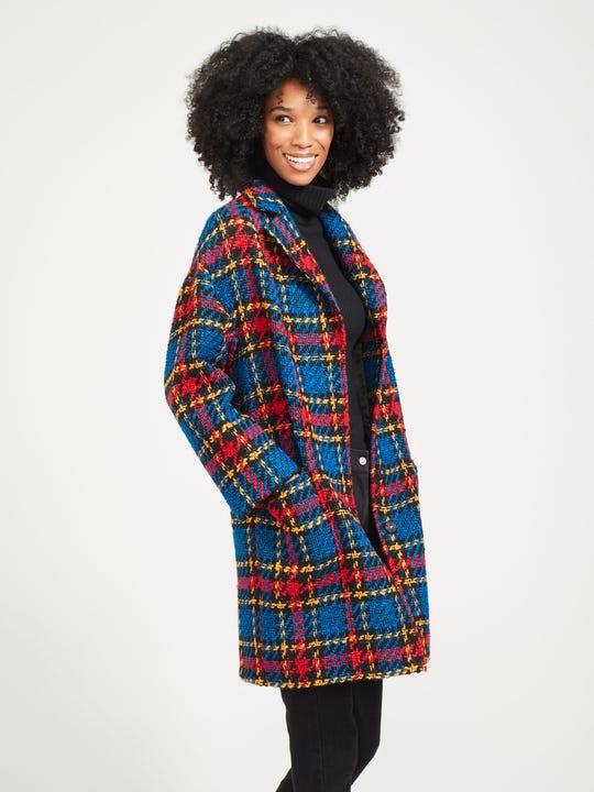 Fien Coat in Plaid
