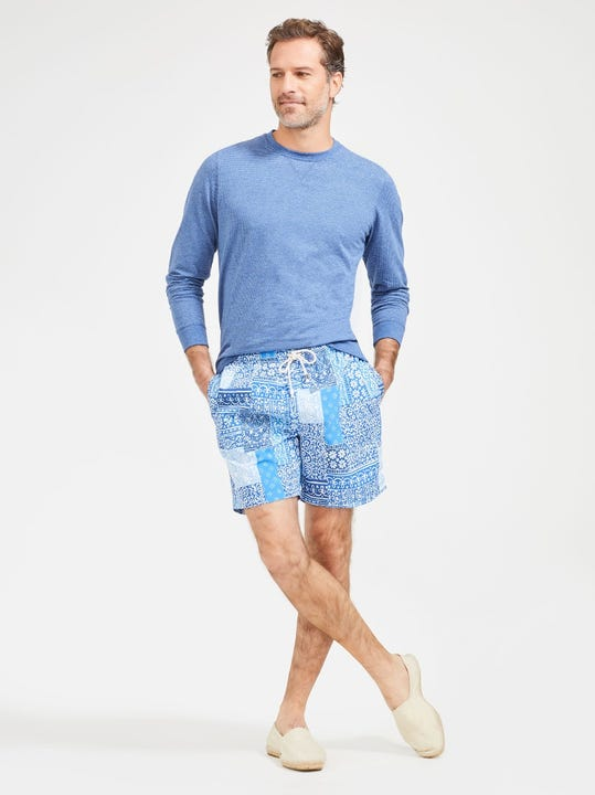Gibson Swim Trunks in Patchwork